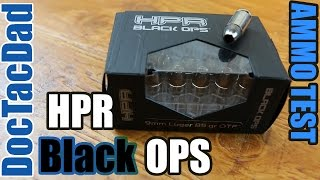 Ammo Test - HPR Black OPS 9mm 85gr OTF - Clear Ballistics Gel