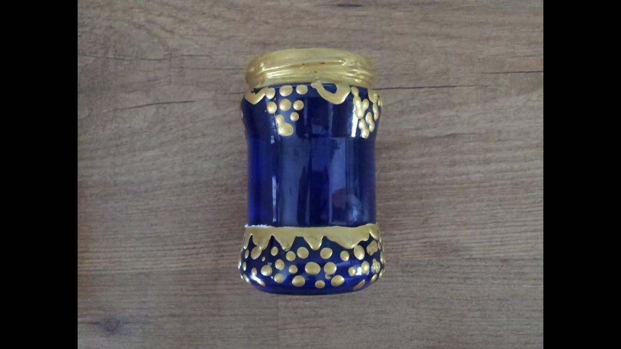 Reciclar bote de cristal para decoraci n marroqu - Decoracion con reciclaje ...