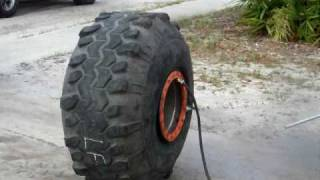 "mounting 44 swamper mud tire on 21"" wide rim v1"