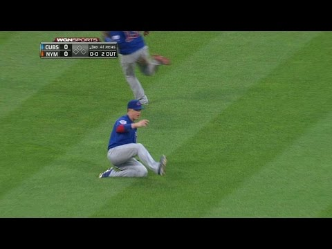 CHC@NYM: Coghlan slides for a nice grab in left