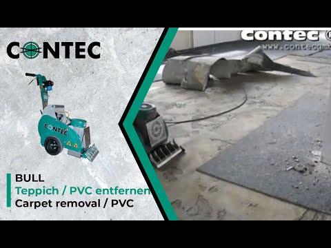 contec bull teppich und pvc entfernen removing carpet and. Black Bedroom Furniture Sets. Home Design Ideas