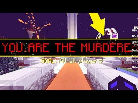 МОЙ ДРУГ ПЕРВЫЙ РАЗ ИГРАЕТ В МАНЬЯКА - (Minecraft Murder Mystery)