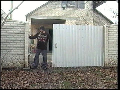 Ворота штора откатные своими руками