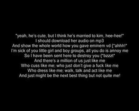 Eminem - The Real Slim Shady - Music And Lyrics video