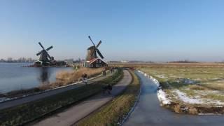 Drone flight - Zaanse Schans, Zaandam, Netherlands.