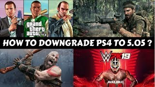 How To Downgrade PS4 From 5.55 to 5.05? #GS2