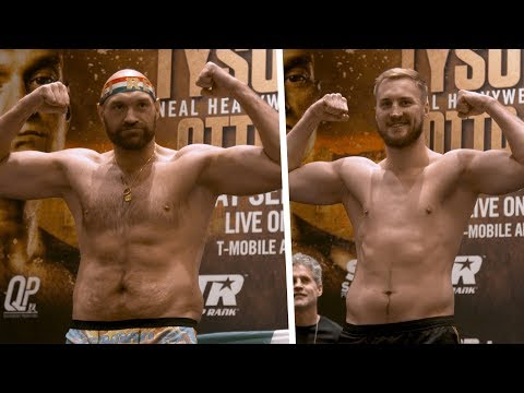 Peak condition! Tyson Fury and Otto Wallin official early weigh-in results