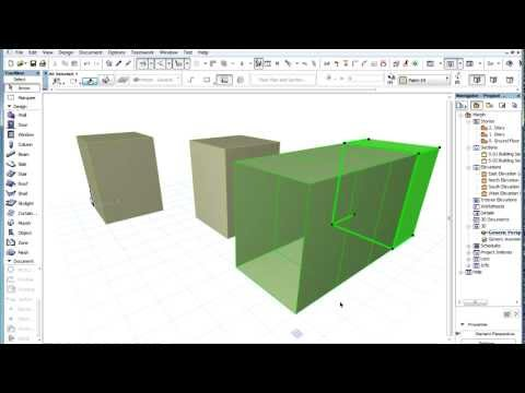 ArchiCAD 16 - The MORPH Tool - Multiplying MORPH Sub-elements