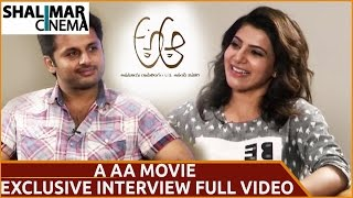 Nithin Samantha Nadhiya Interview About A Aa Movie    Full video    ShalimarCinema