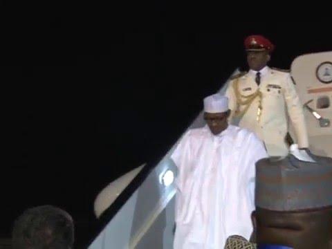 Watch President Buhari Arrives Sham El-Sheikh Egypt For Business For Africa