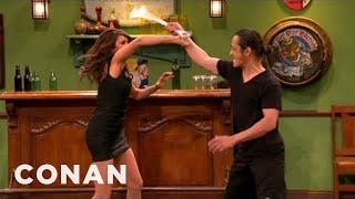 Nina Dobrev Shows Off Her Action Hero Chops - CONAN on TBS