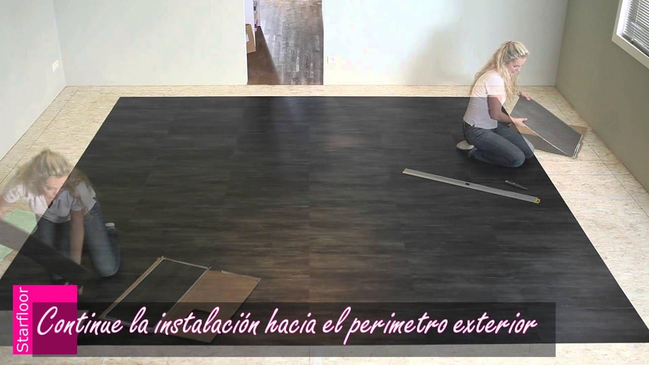 Lamas y losetas autoadhesivas starfloor de tarkett youtube - Losetas adhesivas leroy merlin ...