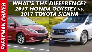 What's the Difference: 2017 Honda Odyssey vs 2017 Toyota Sienna on Everyman Driver