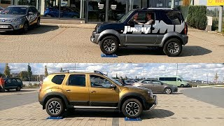 Suzuki Jimny All Grip Pro vs Dacia Duster 4WD - 4x4 test on rollers