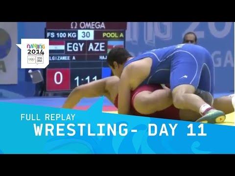 Wrestling - Qualifications Freestyle Men Day 11 | Full Replay | Nanjing 2014 Youth Olympic Games