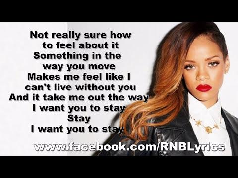 Rihanna - Stay Lyrics On Screen