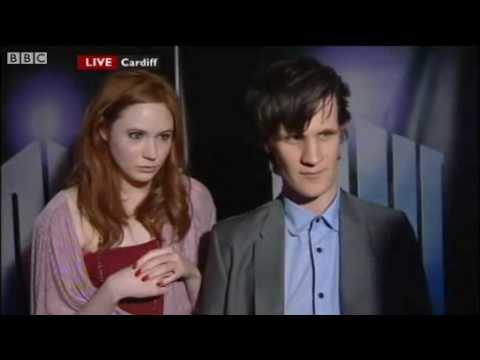 Doctor Who Series 5 Press Launch - Matt Smith & Karen Gillan - BBC Wales Today