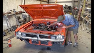 Firing Up The 1971 Mystery Dodge Muscle Car Barn Find & Updates