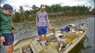 Their Boat Is Sinking!! -- Subscribers Vs. YouTubers Fishing Challenge