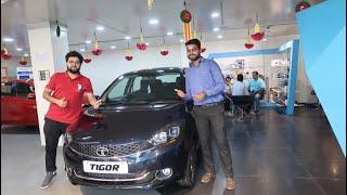New Tata Tigor with New Egyptian Blue Colour | Tata Tigor Features | Tata Tigor New Stereo