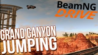 BeamNG Drive Mods Gameplay - Jumping the Grand Canyon! (Canyon of Speed)