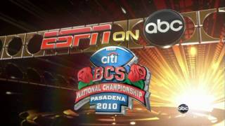 2010 BCS National Championship Game Preview Show Intro