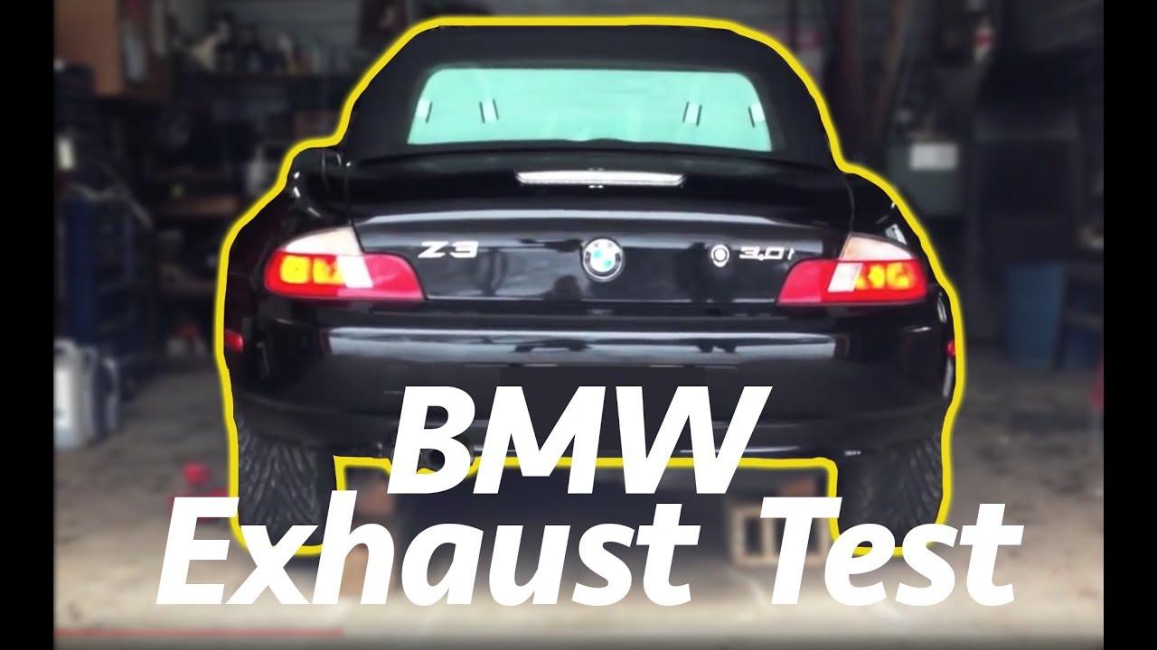 Bmw Z3 Exhaust Sound Test Youtube