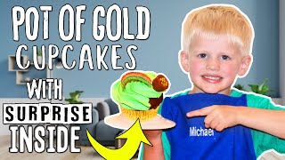 Rainbow Pot Of Gold Cupcakes || Kid Size Cooking