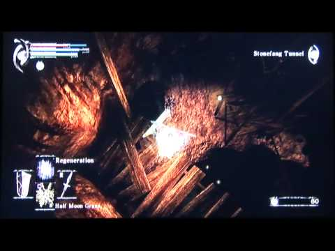 Demon's Souls 2-2 Stonefang Tunnel shortcut to Flamelurker under 3 min.