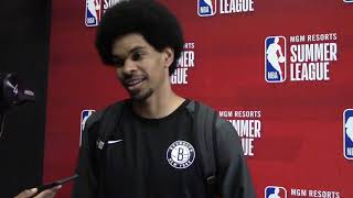 NBA Summer League: Brooklyn Nets Jarrett Allen Post-Game Media Scrum