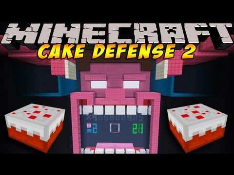 Cake Defense 2 ! A Minecraft Mini-Game by Disco! #2
