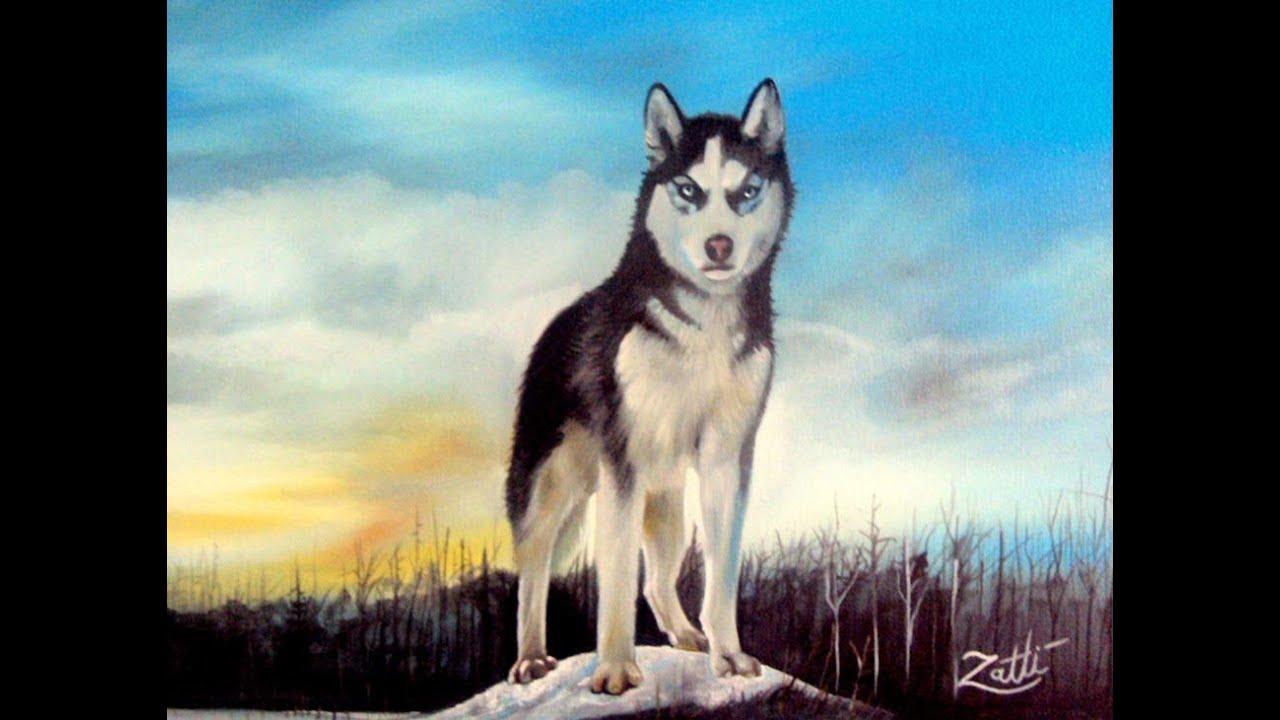 Como pintar um lobo youtube for Pinturas para pintar