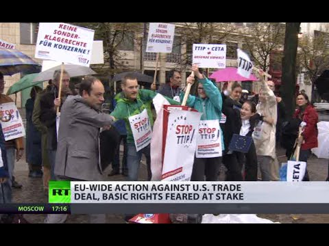 #NoTTIP: 1,000s march in UK, across Europe against US-EU trade deal