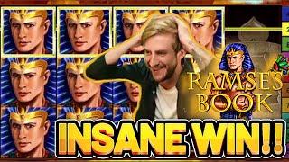 INSANE WIN! RAMSES BOOK BIG WIN - €5 bet on Casino Slot from CASINODADDY