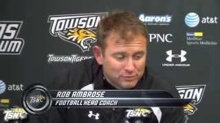 Towson Football head coach Rob Ambrose Post Game thoughts after lost to William and Mary