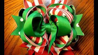 ~Design Idea~ Stacked Hairbow tutorial (Christmas bow)