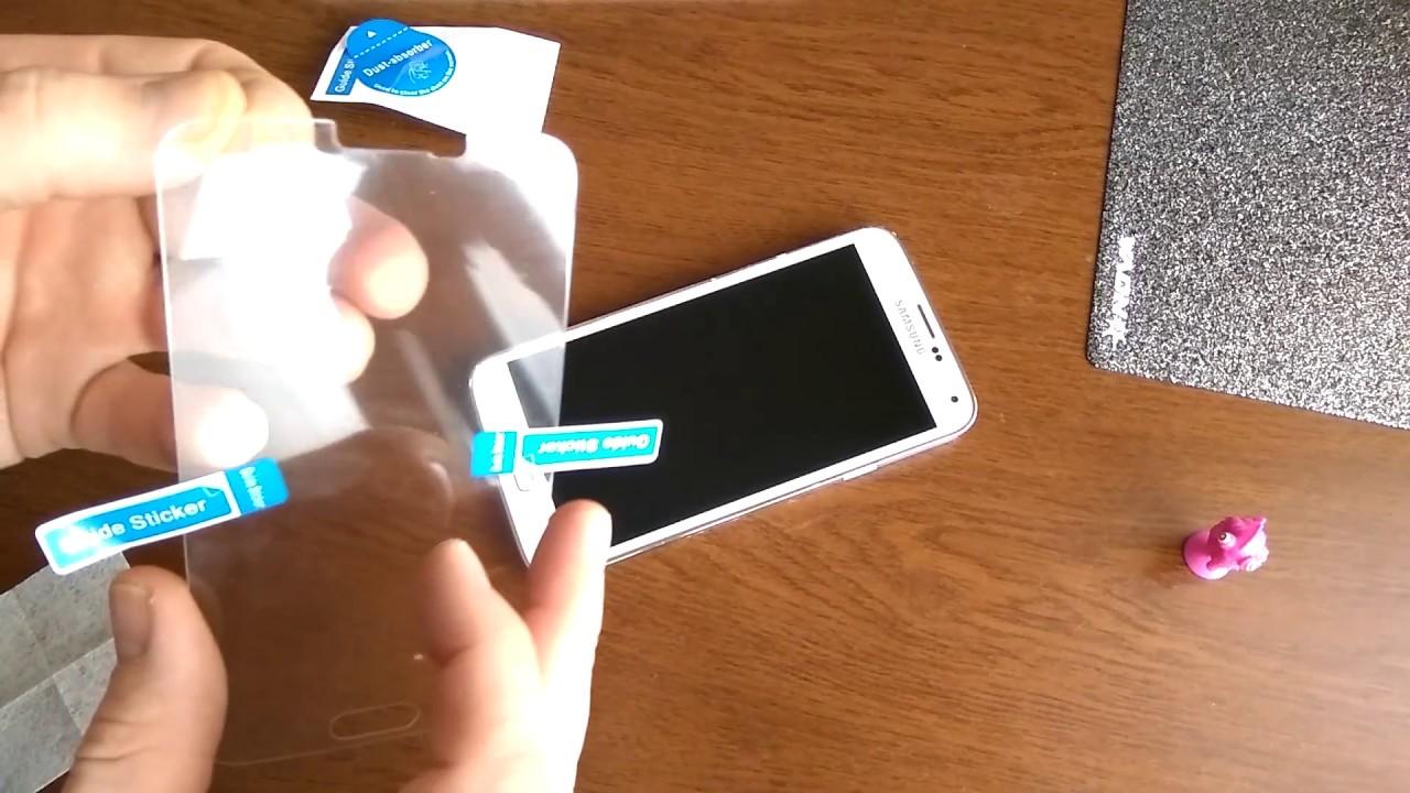 Наклеить защитное стекло на смартфон в домашних условиях 522