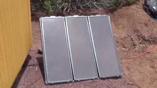 45 Watt Solar Panels Charging RV Batteries.