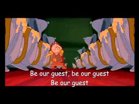 Disney - Be Our Guest (Beauty And The Beast Lyrics ...