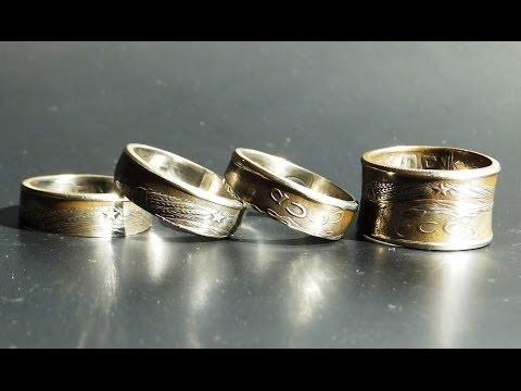 Как из монеты сделать кольцо с гербом СССР