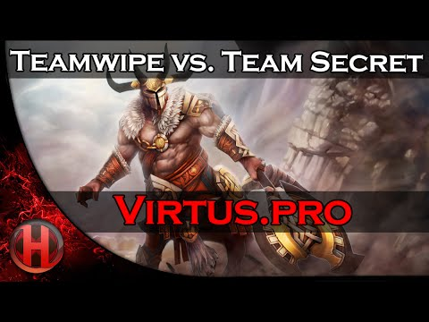 Dota 2 Virtus.Pro teamwipe Team Secret @ DotaCinema XMG Captains Draft 2.0
