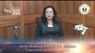 113th SC Anniversary Message of the Chief Justice of the Philippines