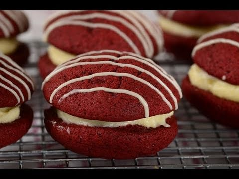 Red Velvet Whoppie Pies Recipe Demonstration – Joyofbaking.com