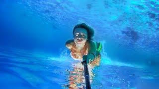 Adriatic, underwater swimming in Croatia