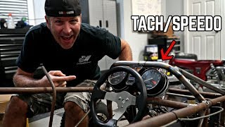 Cross Kart gets Gauges, Tach + Dashboard!