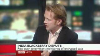 BBC News report on India BlackBerry ban