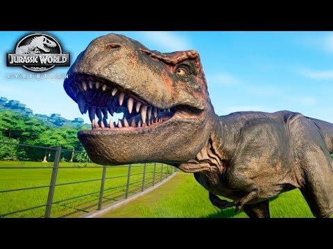 Первый ТИРАННОЗАВР - Jurassic World EVOLUTION #7