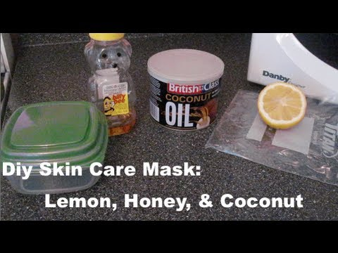 DIY Skin Care Mask To Get an Skin Tone: Lemon. Honey. & Coconut Oil ♡