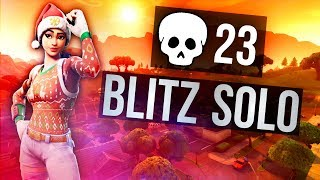 Most Kills in Blitz Mode Solo vs Solo?! 23 Kill Win (Fortnite Battle Royale)