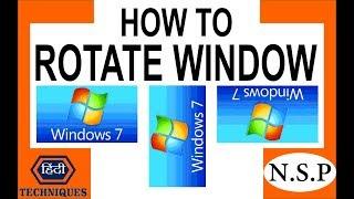 how to rotate windows 7 screen how to rotate laptop screen how to rotate pc screen